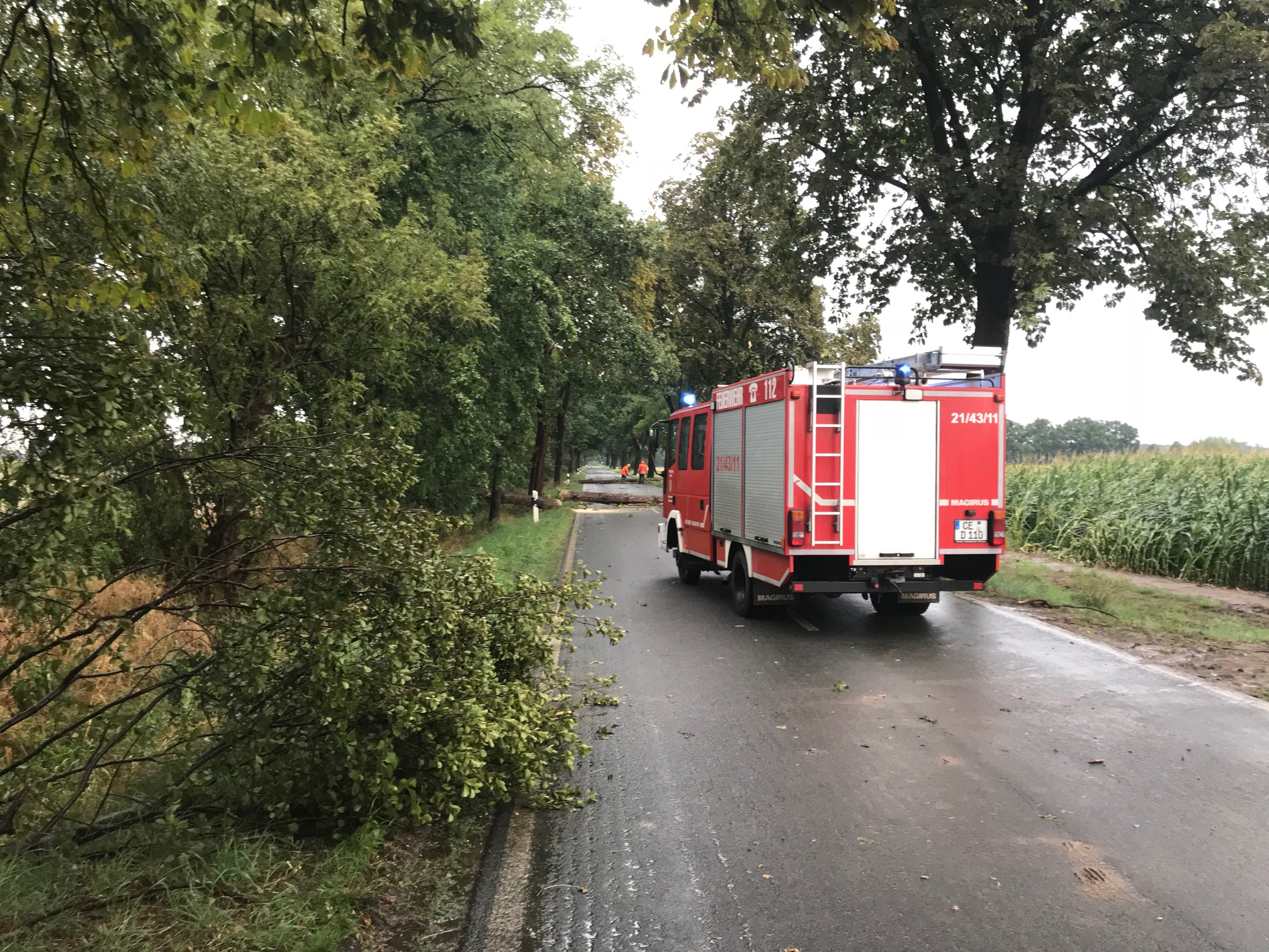 Unwetter über der Samtgemeinde Flotwedel
